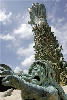Sculpture of Love and Anguish - The Holocaust Memorial of Miami Beach. You gotta see this....soooo moving