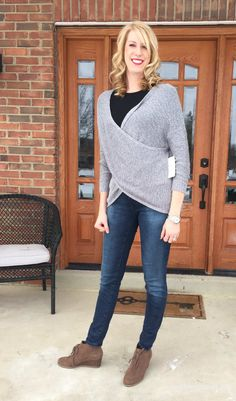 Stitch Fix Review of January 2016 Box | RD Style Crossover Sweater | My Life From Home | www.mylifefromhome.com