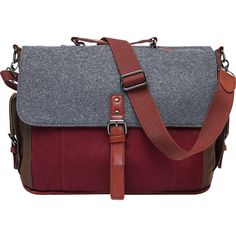Something Strong Something Tri-Canvas Laptop Messenger - Red -... ($51) ❤ liked on Polyvore featuring men's fashion, men's bags, men's messenger bags, mens canvas messenger bags, mens laptop messenger bag and mens messenger bag