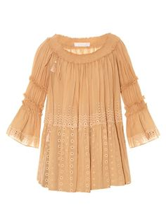 Chloé Off-the-shoulder broderie-anglaise top