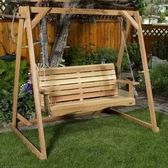All Things Cedar All Things Cedar Wood Natural Unstained Free Standing Swing…