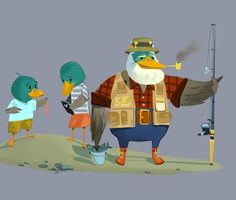 extra-extra curricular activities • Fishing ducks? A little spec something #kidlit...