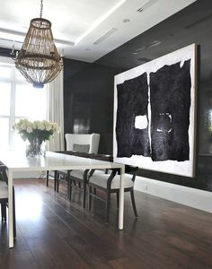 Modern Abstract Painting, Black And White Original Minimalist Art, Geometric Art, Large Canvas Art, Hand Painted Acrylic Painting. von FabuArtDecor auf Etsy https://www.etsy.com/de/listing/228910320/modern-abstract-painting-black-and-white