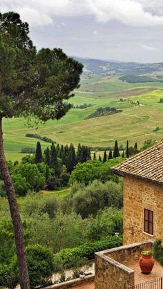 Pienza, Val d'Orcia, Tuscany,  Italy**.