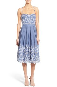 KENDALL + KYLIE Cotton Eyelet Halter Dress available at #Nordstrom