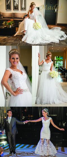 Lindo vestido de noiva (Flávia) confeccionado por Madah atelier!                                                Fotografia: Kobiyama photo e vídeo    #madahatelier #noivasdamadah #wedding #weddingdress #bride #weddingday #dreamdress #weddingdress #vestidodenoiva #noivas #casamento