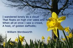 "POEM QUOTE: William Wordsworth, from ""I Wandered Lonely As a Cloud"""