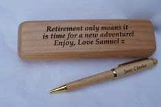 Personalised Gifts Ideas : Personalised Wooden pen case and pen, wooden pen case, wooden pen, personalised … Personalised Pens, Personalised Cushions, Personalized Gifts, Small Case, Small Pen, Etsy Handmade, Handmade Gifts, Handmade Cards, As You Like