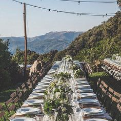 Wedding on the mountains in #Sardinia? Why not! #destinationweddingsardinia #tabledesign #lupuleuweddings  Ph. @frame25studio