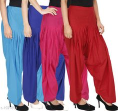 Ethnic Bottomwear - Patiala Pants Women's Solid Cotton Patiala Pant ( Pack of 4 ) Fabric: Cotton Waist Size:  M- 30 in, L- 32 in, XL- 34 in , XXL - 36 in Length: Up to 39 in Type: Stitched Description: It has 4 Pieces Of Patiala Pant Pattern: Solid Sizes Available: Free Size, S, M, L, XL, XXL, XXXL, 4XL *Proof of Safe Delivery! Click to know on Safety Standards of Delivery Partners- https://ltl.sh/y_nZrAV3  Catalog Rating: ★4.2 (5909)  Catalog Name: Eva Women's Solid Cotton Patiala Pants Combo Vol 17 CatalogID_260422 C74-SC1018 Code: 494-1971851-