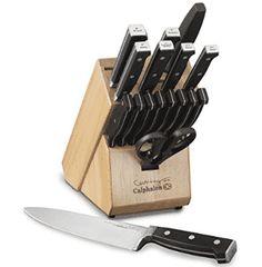 Cooking with Calphalon Forged Cutlery 18 Piece Knife Set, Black Knife Block Set, Knife Sets, Best Chefs Knife, Butterfly Knife, Best Pocket Knife, Steak Knives, Cutlery Set