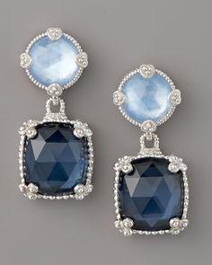 Wedding earrings?  Quartz Doublet Drop Earrings, Blue  by Judith Ripka at Neiman Marcus.