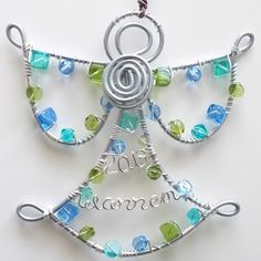 Angel Ornament . Personalized Christmas Ornament . by wiremajigs, $15.00