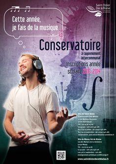 Inscriptions au Conservatoire à rayonnement intercommunal de la Communauté de communes de Saint-Dizier, Der & Blaise. Eté 2013.