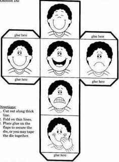 kostka emocje Teaching Emotions, Feelings Activities, Feelings And Emotions, Craft Activities For Kids, Teaching Spanish, Teaching English, Coping Skills, Social Skills, Les Sentiments