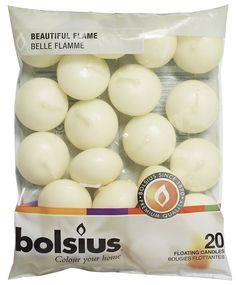 Amazon.com: Bolsius Pack of 20 Ivory Floating Candles 1.3/4 Inch: Kitchen & Dining