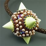 Chrysoprase spike pendant by Laura McCabe.