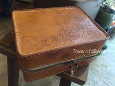 Boîte à outils en cuir fait à la main / par ForestCollectionHK