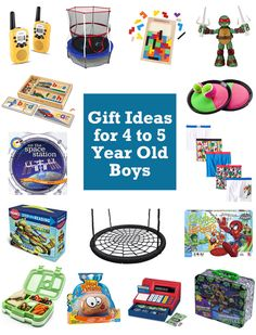 15 Gift Ideas For 4 And 5 Year Old Boys 2016