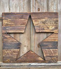 Rustic Wood Star Cutout  Unusual Wood!  Beautiful!