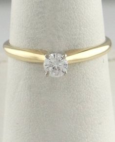 .24ct ROUND DIAMOND SOLITAIRE ENGAGEMENT WEDDING RING LADIES 14K YELLOW GOLD