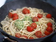5 or less: Spaghetti met peterseliepesto
