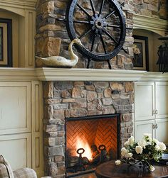 air stone fireplace | Cyprus Air Fireplace Systems - Stone Fireplaces