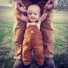 Our baby will need some carhartt pants just like dad. :)