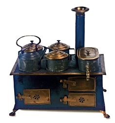 antique German toy stove ... c. 1875