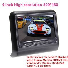 """81.94$  Buy now - http://ali8fr.worldwells.pw/go.php?t=32728290665 - """"High resolution 800*480 car home 9"""""""" Headrest Video Display Monitor CD/DVD Player USB/SD MP3/MP4,support 32 bit games,car styling"""" 81.94$"""