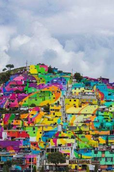 A youth organization in Mexico transformed a boring hillside into an eye-catching piece of art