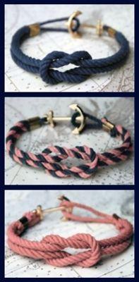 Navy Rope Bracelets