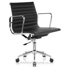 Eames Style Medium Back Office Chair Black - Atlantic Shopping £105