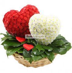 Фигурки из цветов