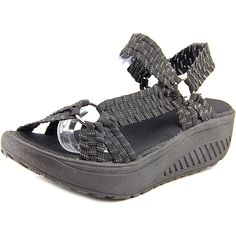 9e2b2adab78c Corkys Quickstep Women Open-Toe Canvas Black Sport Sandal -- Discover this  special product