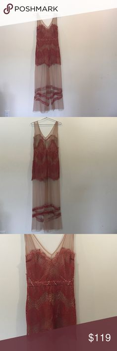 For Love & Lemons Antigua Dress Red lace UWT For  Love & Lemons Antigua Dress For Love and Lemons Dresses Maxi