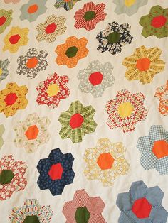 older photos of my grandmother's garden quilt, uploaded for background colour reference for a fellow quilter.  this is before I got to the quilting stage  These were from my blog before I was active on flickr.