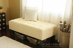 DIY upholstered bench!