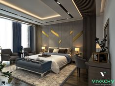 Master Bedroom in Settlement on Behance Room Design Bedroom, Bedroom Setup, Master Bedroom Interior, Modern Master Bedroom, Bedroom Furniture Design, Bedroom Layouts, Bedroom Décor, House Ceiling Design, Ceiling Design Living Room
