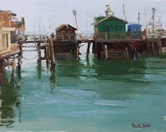 Pauline Roche - Fisherman's Wharf- Oil - Painting entry - September 2016 | BoldBrush Painting Competition