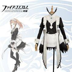 51dc00674d9 Fire Emblem Fates Felicia Maid Dress Cosplay Costume Custom Black White Gown