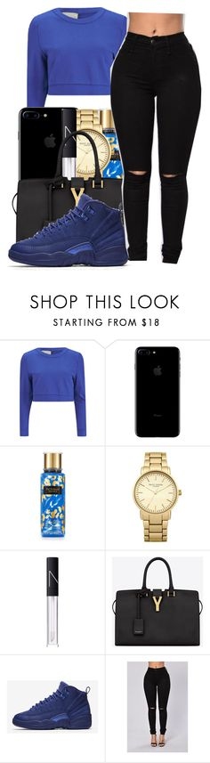 """""""Goosebumps✨~Travis scott"""" by maiyaxbabyyy ❤ liked on Polyvore featuring Lavish Alice, Victoria's Secret, Topshop, NARS Cosmetics, Yves Saint Laurent and NIKE"""