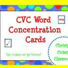 This set of 18 CVC picture cards and 18 CVC word cards are great to use to play concentration in either a small group or literacy center. Christys...