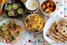 Jeyashri's Kitchen: COOKING FOR GUESTS SERIES #14   ALOO PARATHA PAPDI...