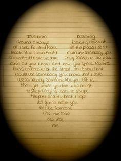 http://www.youtube.com/watch?v=gnhXHvRoUd0&list=RDgnhXHvRoUd0   Kings of Leon -- Someone Like You