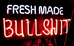 Fresh made BS neon sign