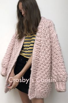 the knitter - crosby's cousin cardi Diy Clothes, Clothes For Women, Pink Cardigan, Mohair Sweater, Knitting Accessories, Pulls, Hand Knitting, Fall Outfits, Knitwear