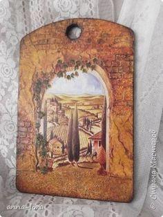 Декор предметов Декупаж Досочки на дачу Дерево фото 1