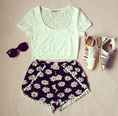 daisies summer hipster