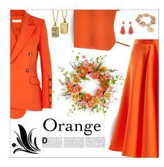 """Pops of Orange"" by outfitsloveyou ❤ liked on Polyvore featuring Maison Rabih Kayrouz, WearAll, Karen Millen, Altuzarra and Monica Rich Kosann"